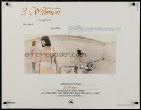 9c008 3 WOMEN 1/2sh 1977 directed by Robert Altman, Shelley Duvall, Sissy Spacek, Janice Rule