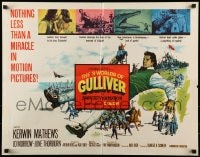 9c001 3 WORLDS OF GULLIVER 1/2sh 1960 Ray Harryhausen fantasy classic, art of giant Kerwin Mathews!