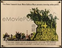 9c010 4 HORSEMEN OF THE APOCALYPSE style B 1/2sh 1961 different art by Joseph Smith!