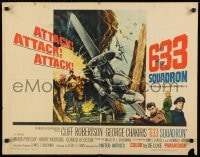 9c013 633 SQUADRON 1/2sh 1964 cool airplane artwork, The Winged Legend of World War II!