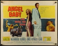 9c025 ANGEL BABY 1/2sh 1961 full-length George Hamilton standing with sexiest Salome Jens!