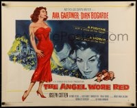 9c026 ANGEL WORE RED style A 1/2sh 1960 Dirk Bogarde, great art of sexy full-length Ava Gardner!