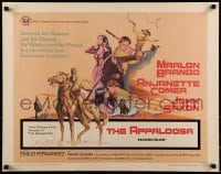 9c029 APPALOOSA 1/2sh 1966 Marlon Brando rode the lustful & lawless to live on the edge of violence!