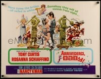 9c033 ARRIVEDERCI, BABY 1/2sh 1966 Tony Curtis is a ladykiller, great wacky Jack Davis art!