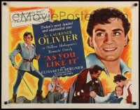 9c034 AS YOU LIKE IT 1/2sh R1949 Sir Laurence Olivier in William Shakespeare's romantic comedy!