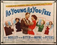 9c035 AS YOUNG AS YOU FEEL 1/2sh 1951 young sexy Marilyn Monroe shown, Woolley, Thelma Ritter!