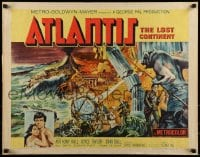 9c036 ATLANTIS THE LOST CONTINENT 1/2sh 1961 George Pal sci-fi, cool fantasy art by Joseph Smith!