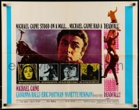 9c122 DEADFALL 1/2sh 1968 Michael Caine, Giovanna Ralli, Eric Portman, directed by Bryan Forbes!
