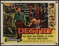 9c129 DESTRY style A 1/2sh 1954 Audie Murphy & Mari Blanchard in the west's best loved story!