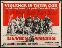 9c131 DEVIL'S ANGELS 1/2sh 1967 Corman, Cassavetes, their god is violence, lust - law they live by
