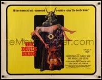 9c132 DEVIL'S BRIDE 1/2sh 1968 wild art, the union of the beauty of woman and the demon of darkness