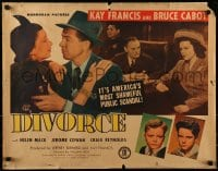 9c135 DIVORCE 1/2sh 1945 great images of Kay Francis, Bruce Cabot, Helen Mack!