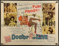 9c137 DOCTOR IN LOVE 1/2sh 1961 an epidemic of fun & frolic 11 out of 10 doctors recommend!