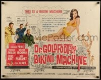 9c143 DR. GOLDFOOT & THE BIKINI MACHINE 1/2sh 1965 Vincent Price, babes with kiss & kill buttons!