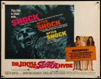 9c144 DR. JEKYLL & SISTER HYDE 1/2sh 1972 sexual transformation of man to woman takes place!