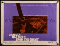 9c146 DRACULA HAS RISEN FROM THE GRAVE 1/2sh 1969 Hammer, vampire Christopher Lee!