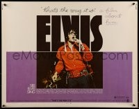 9c153 ELVIS: THAT'S THE WAY IT IS 1/2sh 1970 great close image of Presley singing on stage!