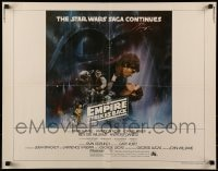 9c154 EMPIRE STRIKES BACK int'l 1/2sh 1980 classic Gone With The Wind style art by Kastel!