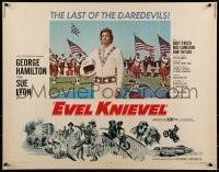 9c157 EVEL KNIEVEL 1/2sh 1971 George Hamilton is THE daredevil, great art and image!