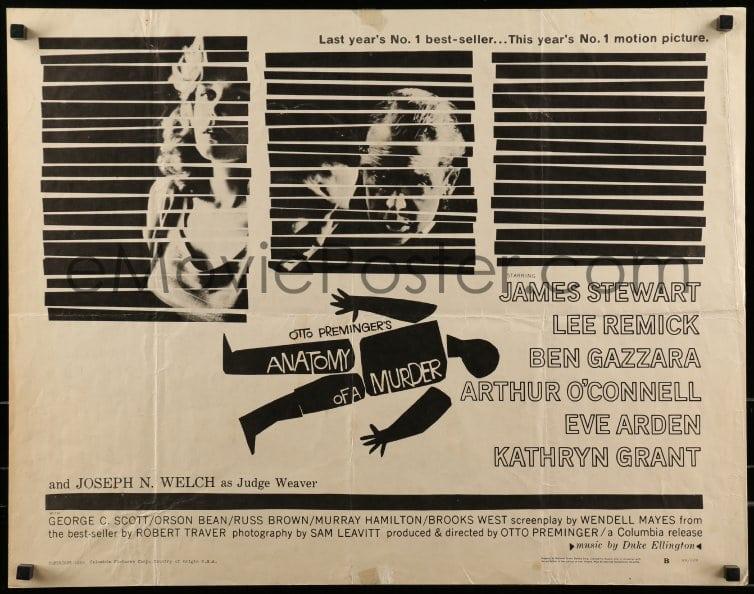 eMoviePoster.com: 9c024 ANATOMY OF A MURDER style B 1/2sh 1959 Otto ...