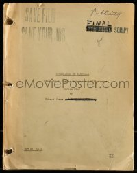 9d007 ADVENTURES OF A ROOKIE revised estimating script May 21, 1943, screenplay by Edward James
