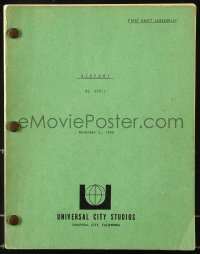 9d002 AIRPORT first draft script November 5, 1968, screenplay by George Seaton!