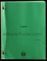 9d011 ALIENS first draft script May 30, 1985, screenplay by James Cameron!