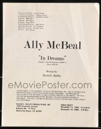 9d013 ALLY MCBEAL TV revised first draft script November 12, 1998, screenplay by David E. Kelley!