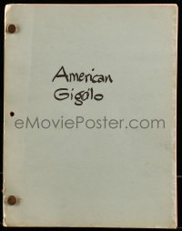 9d015 AMERICAN GIGOLO final shooting script February 8, 1979, screenplay by Paul Schrader!