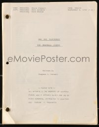 9d022 BAA BAA BLACK SHEEP TV script Sept 8, 1976, Meatball Circus screenplay by Stephen J. Cannell
