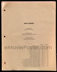 9d024 BABY MAMA 2nd revised shooting script January 3, 2007, screenplay by Tina Fey & Amy Poehler!