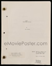 9d028 BAIT English script 1980s unproduced screenplay by Eva Hardy!