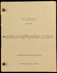 9d036 BELIEVERS revised second draft script March 14, 1986, screenplay by Mark Frost, working title!