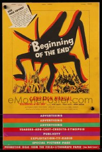 9f004 BEGINNING OF THE END pressbook 1957 U.S. may use the A-bomb to destroy the giant bugs!