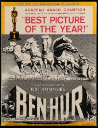 9f006 BEN-HUR awards pressbook 1961 Charlton Heston, William Wyler classic, incredibly elaborate!