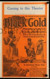 9f009 BLACK GOLD pressbook 1927 exact full-size image of the 14x22 window card!