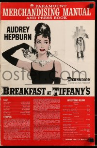 9f010 BREAKFAST AT TIFFANY'S pressbook 1962 great images & art of sexy Audrey Hepburn, classic!