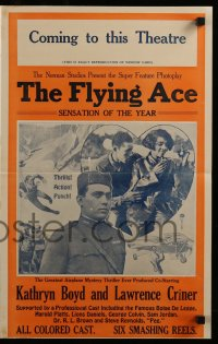 9f019 FLYING ACE pressbook 1926 cool all-black aviation, greatest airplane thriller ever produced!