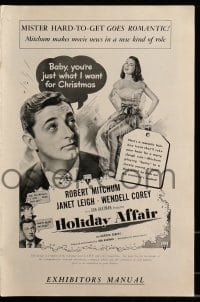 9f024 HOLIDAY AFFAIR pressbook 1949 Mitchum & Leigh, includes ultra rare 2nd edition pressbook!