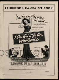 9f026 I CAN GET IT FOR YOU WHOLESALE pressbook 1951 great images of sexy Susan Hayward!