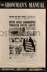9f029 IT CAME FROM OUTER SPACE 2D pressbook 1953 Jack Arnold classic sci-fi, Ray Bradbury