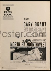 9f039 NORTH BY NORTHWEST pressbook 1959 Alfred Hitchcock classic with Cary Grant & Eva Marie Saint!