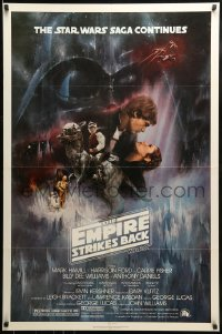 9g050 EMPIRE STRIKES BACK NSS style 1sh 1980 classic Gone With The Wind style art by Roger Kastel!