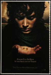 9g585 LORD OF THE RINGS: THE FELLOWSHIP OF THE RING printer's test teaser DS 1sh 2001 Frodo w/ Ring!