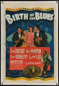 9h015 BIRTH OF THE BLUES linen 1sh 1941 Bing Crosby, Carolyn Lee, Donlevy, Mary Martin, Rochester
