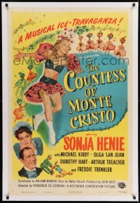 9h039 COUNTESS OF MONTE CRISTO linen 1sh 1948 ice skater Sonja Henie in her last Hollywood film!