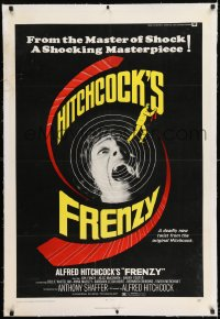 9h059 FRENZY linen 1sh 1972 Anthony Shaffer, Alfred Hitchcock's shocking masterpiece!