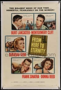 9h061 FROM HERE TO ETERNITY linen 1sh 1953 Burt Lancaster, Deborah Kerr, Frank Sinatra, Reed, Clift