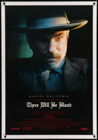 9h177 THERE WILL BE BLOOD linen 1sh 2007 Best Actor winner Daniel Day-Lewis, Paul Thomas Anderson