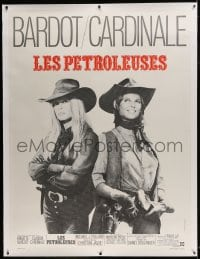 9j044 LEGEND OF FRENCHIE KING linen French 1p 1971 cowgirls Claudia Cardinale & Brigitte Bardot!